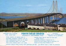 Forth Road Bridge  : card printed post Sept. 1964 with construction data