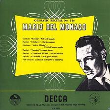 """DEL MONACO Sings CATALANI PUCCINI GIORDANO Arias GHIONE DECCA LW-5121 10"""" $4 S&H"""