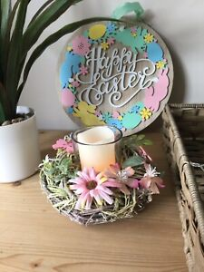 EASTER / Spring Tea Light Candle Holder Table And Home Decoration