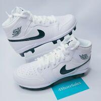 NEW Nike Men's SIZE 11 AIR JORDAN 1 Retro MCS Baseball Cleats White AV5364-100