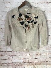 GORGEOUS Womens Anthropologie LITTLE YELLOW BIRD Cardigan Sweater Size XS Alpaca