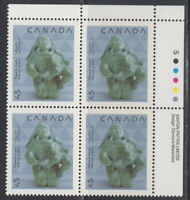 CANADA #1295 45¢ Christmas Native Nativity UR Inscription Block MNH