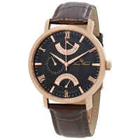 Lucien Piccard Verona GMT Retrograde Men's Watch 10340-rg-01-brw