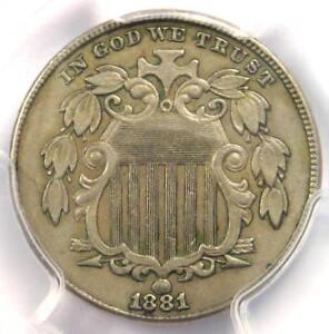 1881 Shield Nickel (5C Coin) - Certified PCGS AU50 - Rare Key Date!