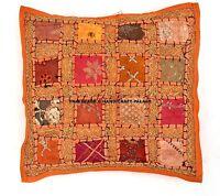 Indien Ethnique Hippie Housse Coussin Boho Coloré Sequin Patchwork Multi Canapé
