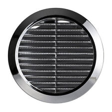 "Chrome Circle Air Vent Grille 4"" 5"" 6"" Round Ducting Pipe Cover 100 125 150 T36M"