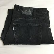 Vintage Levis Silvertab Baggy Black Denim Jeans 36x32 Zipper Made In Mexico