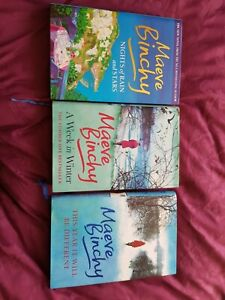 3 X Maeve Binchy Hardback Books Read Once