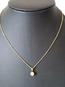 Gold Plated Diamanté Drop Pendant Necklace