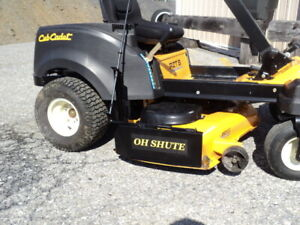 Mower deck discharge chute  blocker -OH SHUTE