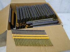 """New 1000 Pc 3"""" X .120 21 Degree Plastic Strip Framing Nails Screw Shank True Fit"""
