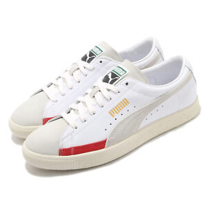 Puma Basket 90680 L Suede White Ivory Vintage Men Casual Lifestyle 372073-04