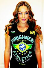 Punishment Athletics Girls Cyborg Brazil Premium Soft Cotton Tee Large