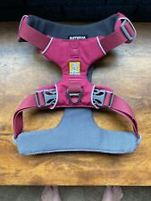 RUFFWEAR Pink Front Range Dog Harness Size S Padded 2 Snap Adjustable Metal Clip