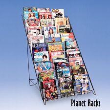 Planet Racks 10 Shelf Magazine Book Floor Display - Black - Closeout Price