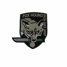 Metal Gear Solid Gray Fox Hound Embroidered Patch