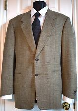 CANALI PROPOSTA US 40L Tweed Wool 2 Button Taupe Windowpane Blazer Sports Jacket