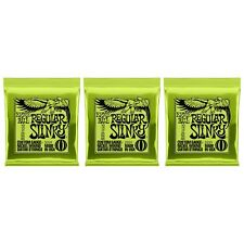 3 PACKS Ernie Ball Regular Slinky 10-46 Electric Guitar Strings 2221 FREE SHIP!