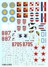 """Hi Decals 1/48 MIKOYAN MiG-21bis """"FISHBED L/N"""" Soviet Jet Fighters"""