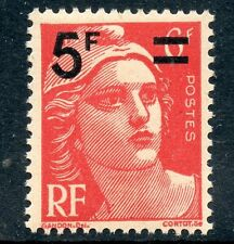 STAMP / TIMBRE FRANCE NEUF N° 827 ** MARIANNE GANDON SURCHARGE