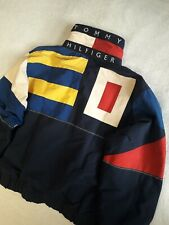 Tommy Hilfiger vintage colorblock spell out windbreaker jacket M