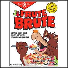 Fridge Fun Refrigerator Magnet FRUIT (FRUTE) BRUTE MONSTER BREAKFAST CEREAL 80s