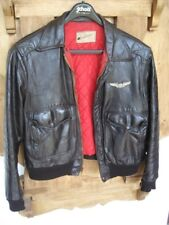 Vintage Sears Hercules Leather Jacket Flight Motorcycle McQueen Giacca Pelle 50s