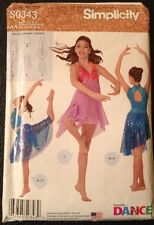 1965bec07dc1 SIMPLICITY DANCE WEAR Sewing Pattern S0343 Girls Misses Size Small-Large  UNCUT
