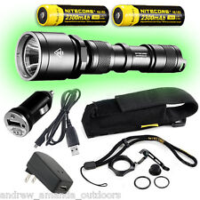 Nitecore MH25 Rechargeable Flashlight w/2x NL183 batteries + car & wall charger