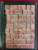 CM7) Australia KGV 1d Reds collection, about 350 in stockbook
