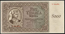 Kroatien / Croatia 5000 Kuna 1943 Pick 14a (1)