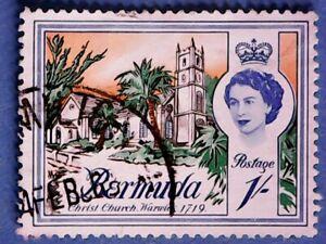 Bermuda. QE2 1962 1s Buildings. SG171. Wmk Ww12. P12½. Used.