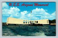 Pearl Harbor HI, USS Arizona Memorial, Chrome Hawaii Postcard