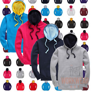 Adult Sports Hoodie Contrast Colours, concealed iPod and phone pocket, Unisex
