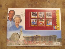 More details for large mercury guernsey 1997 £5 coin cover - queen's golden wedding anniversary