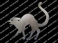 HALLOWEEN CAT -- Scary Yard Garden Decor Metal Sign Plasma Silhouette Cutout
