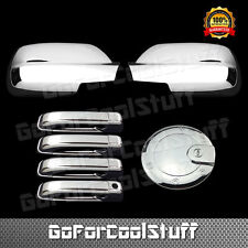 For Jeep Grand Cherokee 2005-10 Chrome Mirror Door Handle Gas Cap Cover W/O Pskh