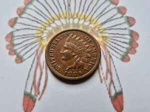 1886 Indian Head Cent  AU