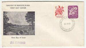 Norfolk Island 1960 FDC Flowers Definitives