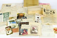 Large Lot 45 + items Paper Ephemera Postcards, Advertising, Ledgers letters