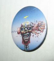 Rare Vintage 1988 Iron Maiden Eddie Pin Button Badge Button-Up FREE Ship
