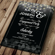 60 Personalised Engagement Party Invitations, Invites, with Envelopes