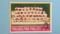 1976 TOPPS BASEBALL #384 PHILADELPIA PHILLIES TEAM CHECKLIST EXMT