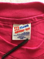 Vtg Early 90s Hanes Blank Pink T-Shirt L 50/50 Cotton Polyester Plain Made USA