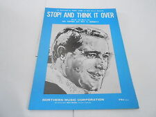 1967 vintage NOS sheet music - STOP AND THINK IT OVER - PERRY COMO