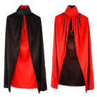 Black Red Cape Stand Up Collar Kids Halloween Costume Masquerade Fancy Dress
