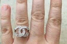 Womens ring Genuine natural white diamond gold CC Ring 18k val $8590