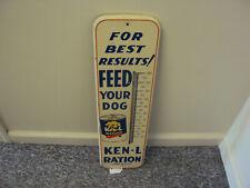 VINTAGE ADVERTISING KEN-L-RATION DOG FOOD THERMOMETER    545-Q
