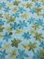Nancys Holiday Favourites Halvorsen Benartex 100% Cotton Fabric Blue Green