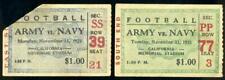 (2) 1929-1930 Army vs Navy Football Ticket Stubs